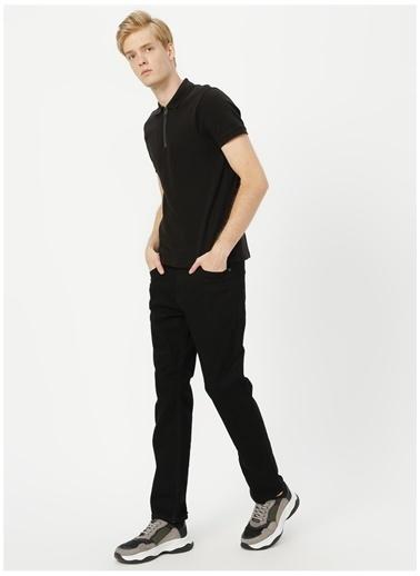 Black On Black Black On Black Polo Yaka Düz Siyah Polo T-Shirt Siyah